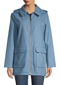 Kate Spade Hooded Zipper Trench Coat