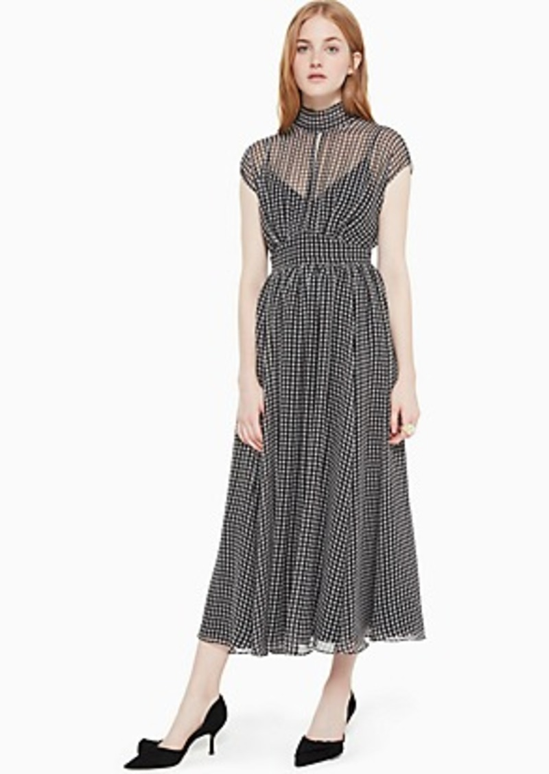Kate Spade houndstooth chiffon dress