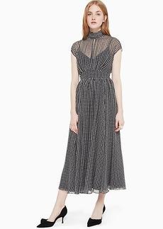 Kate Spade houndstooth chiffon dress