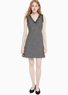 Kate Spade Houndstooth Tweed Dress