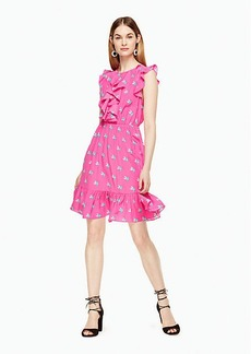 Kate Spade hummingbird ruffle dress