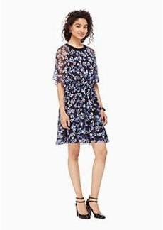 hydrangea chiffon dress