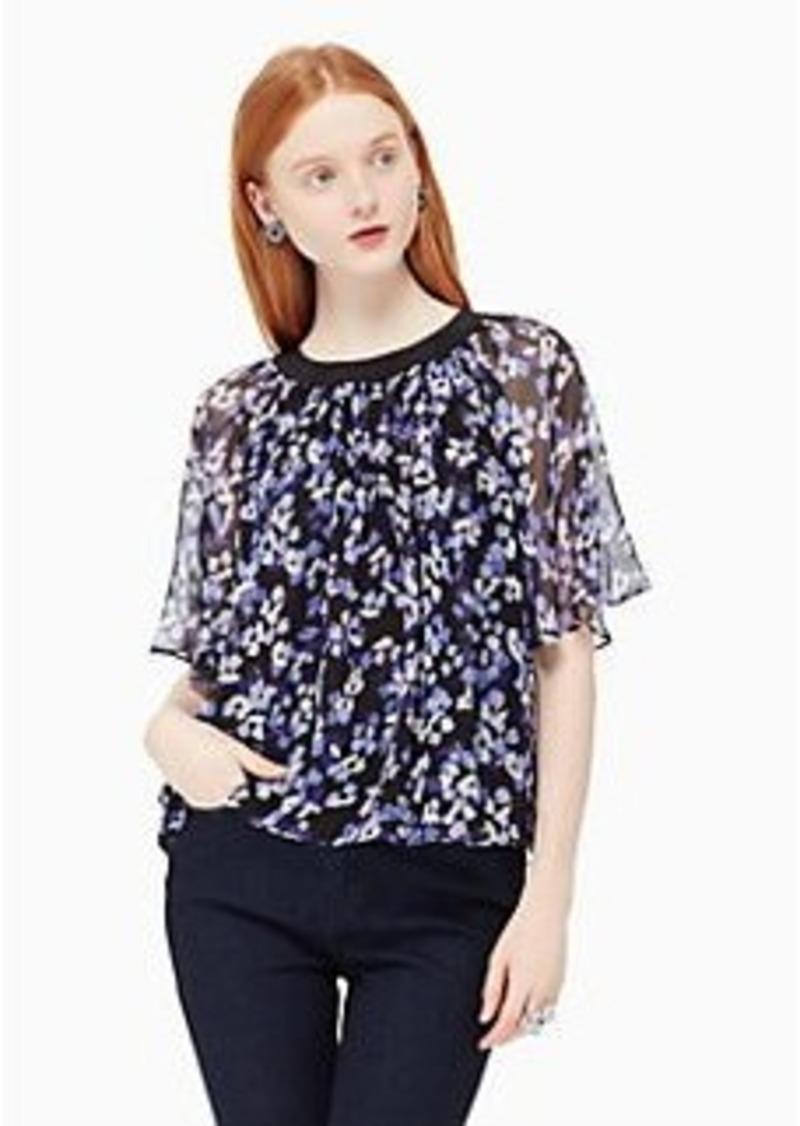 5a4af79ec0457 Kate Spade hydrangea chiffon top | Casual Shirts