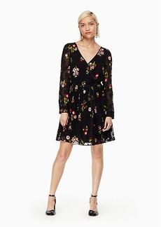 Kate Spade in bloom chiffon mini dress