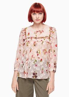 Kate Spade in bloom chiffon top