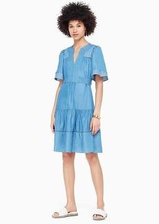 Kate Spade indigo railroad dress