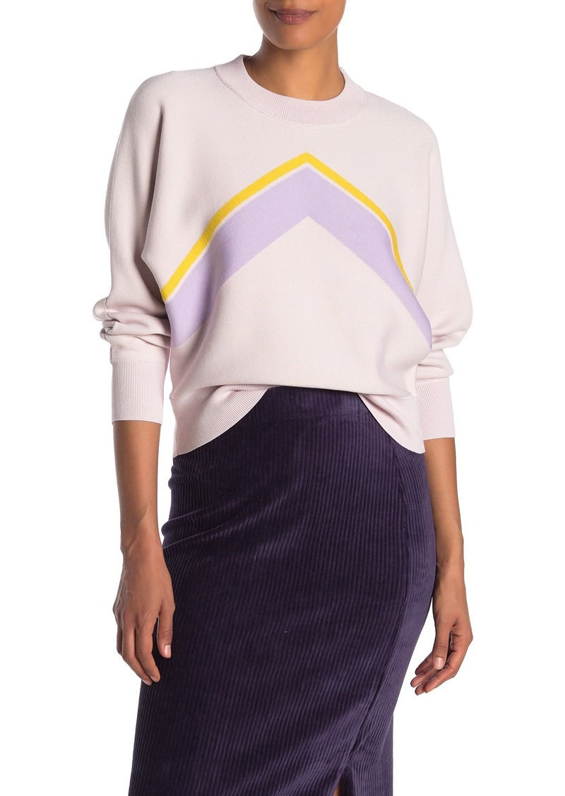 Kate Spade intarsia graphic pullover sweater