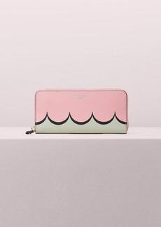 Kate Spade intarsia scallop slim continental wallet