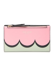 Kate Spade intarsia scallop small slim bifold wallet