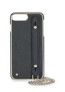Kate Spade iPhone 7-8 Plus Crosshatch Leather Case