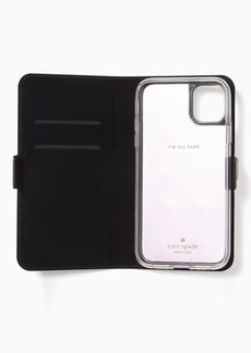 Kate Spade iphone cases glitter folio iphone 11 case