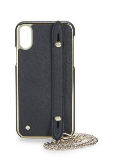 Kate Spade iPhone X Crosshatch Leather Case