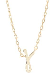 Kate Spade J script letter pendant necklace