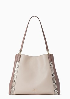 Kate Spade jackson mixed material large triple compartment shoulder tote