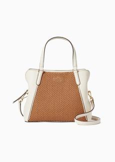 Kate Spade jackson straw medium triple compartment satchel