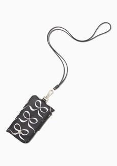 Kate Spade jae elegant bow card case lanyard