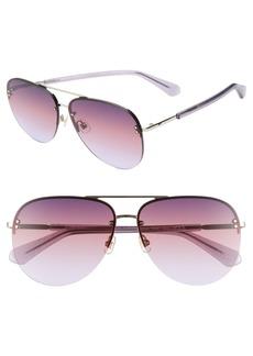 Kate Spade jakaylas 62mm aviator sunglasses