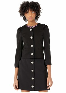 Kate Spade Jewel Button Ponte Jacket