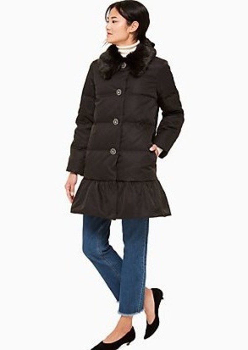 Kate Spade jewel button puffer coat