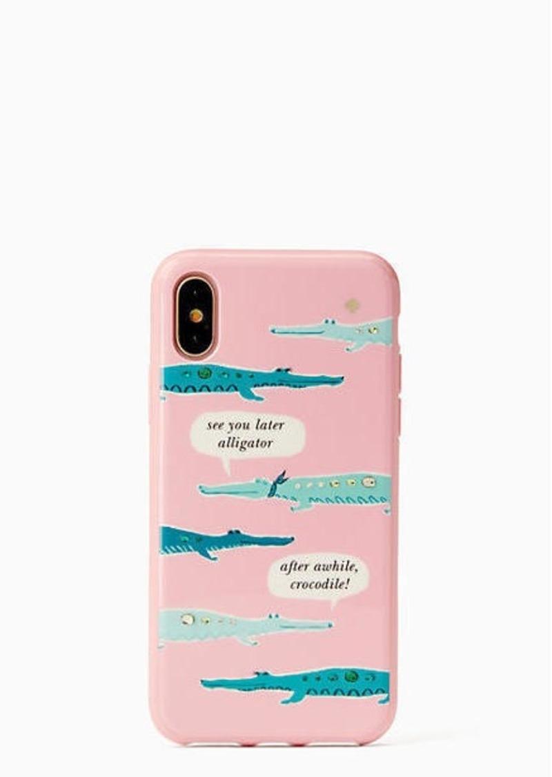 buy popular 2d042 5b517 jeweled alligator iphone x case