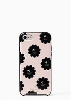 Kate Spade jeweled brush floral iphone 7 case