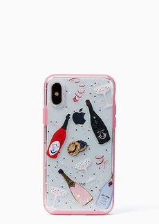 Kate Spade jeweled champagne iPhone x case