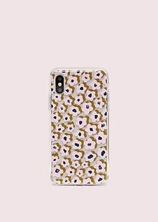Kate Spade jeweled flair flora iphone x & xs case