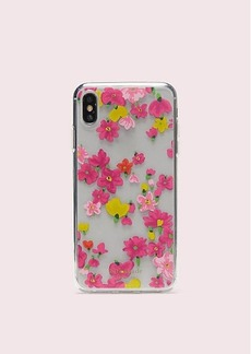 Kate Spade jeweled marker floral clear iphone xs max case