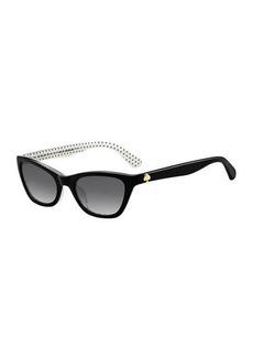 Kate Spade johnetas polka-dot cat-eye sunglasses