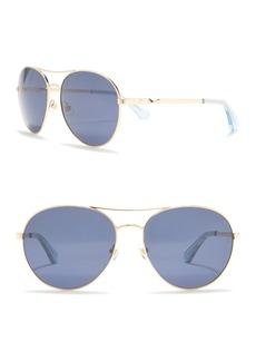 Kate Spade joshelle 60mm polarized aviator sunglasses