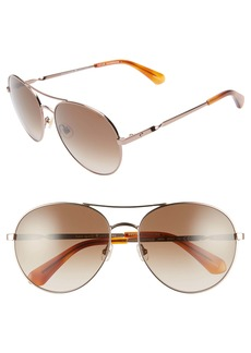 Kate Spade joshelle 60mm polarized aviator sunglasses