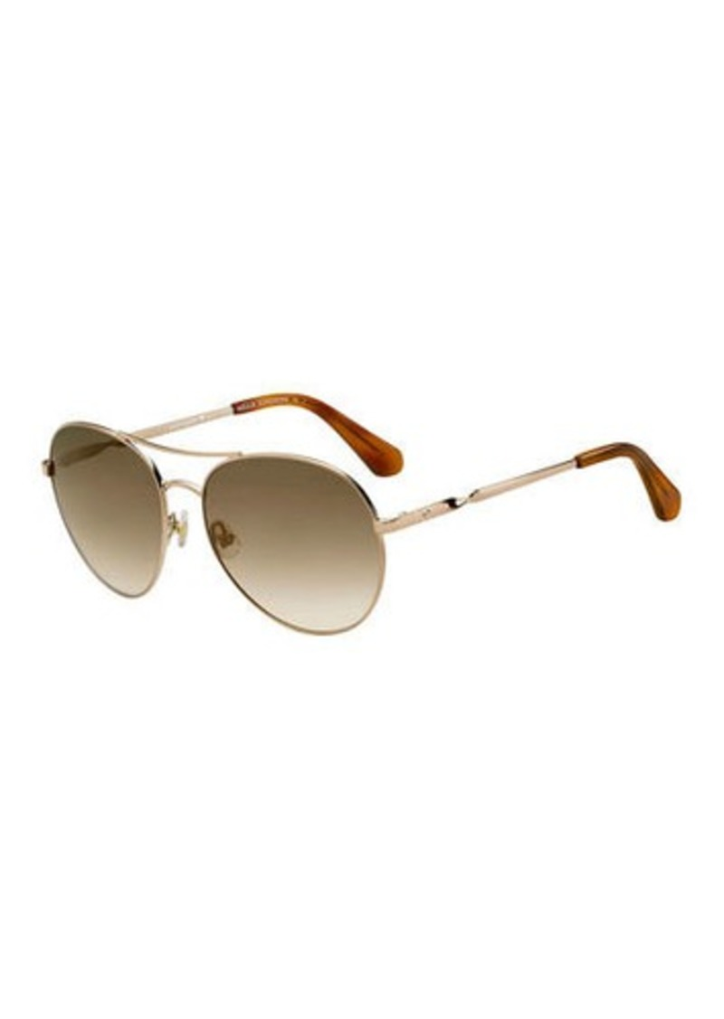 Kate Spade joshelles aviator twist-arm sunglasses