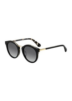 Kate Spade joylyn round acetate & metal sunglasses