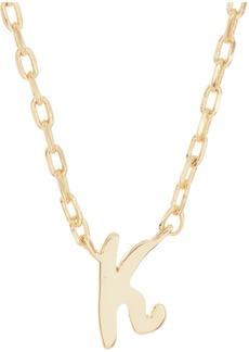 Kate Spade K script letter pendant necklace