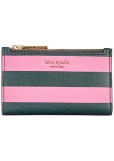 Kate Spade kate sapde new york Sylvia Stripe Small Slim Bifold Wallet