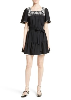 kate spade embroidered a-line dress