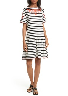kate spade embroidered drop waist dress