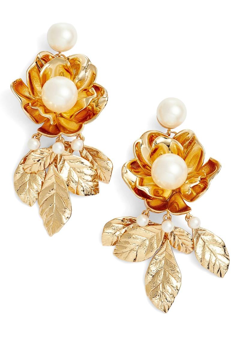 Kate Spade Imitation Pearl Flower Earrings Jewelry