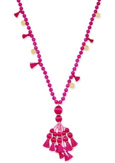 kate spade new york 12k Gold-Plated Bead and Tassel Pendant Necklace