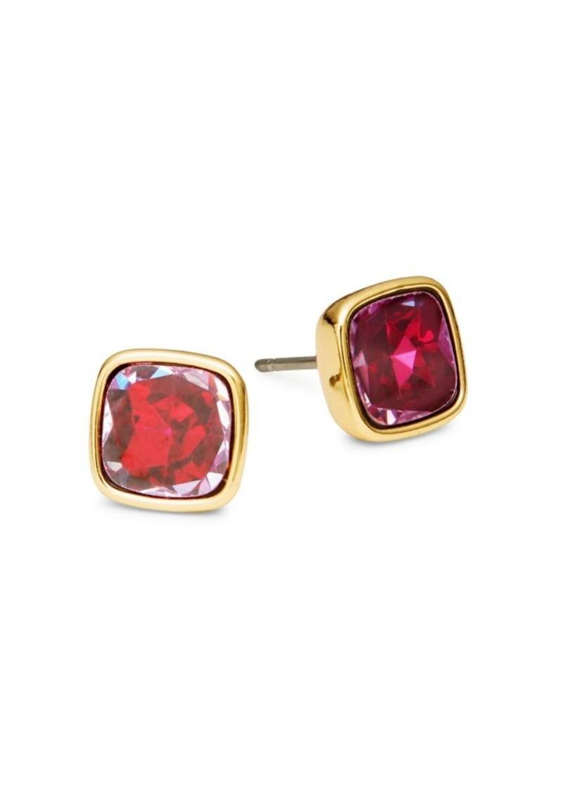 Kate Spade New York 12K Goldplated Cushion-Cut Small Stud Earrings