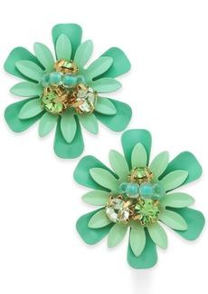 kate spade new york 14k Gold-Plated Bead & Crystal Coated Stud Earrings