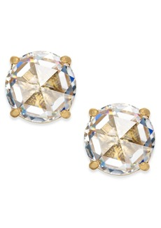 kate spade new york 14k Gold-Plated Crystal Stud Earrings