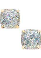 kate spade new york 14k Gold-Plated Glittery Purple Square Stud Earrings