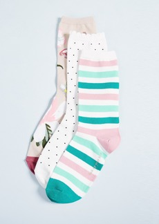 Kate Spade New York 3 Pack of Botanical Socks