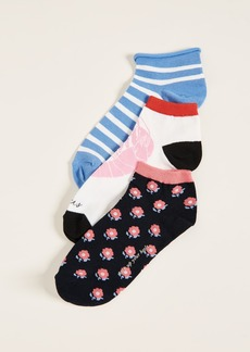 Kate Spade New York 3 Pack of Love Lobster Socks