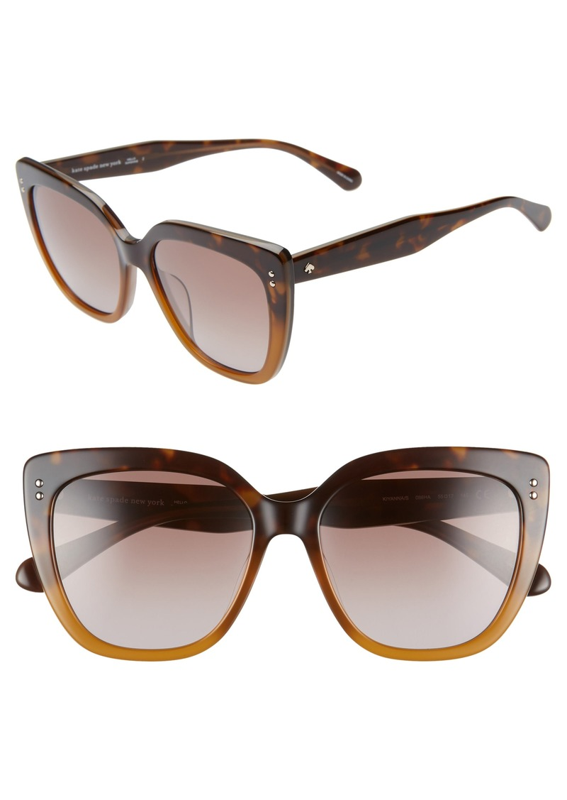5ceef05e0bfc2 Kate Spade kate spade new york 55mm kiyannas cat eye sunglasses ...
