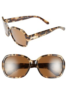 kate spade new york laney 57mm polarized sunglasses