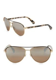 Kate Spade New York 59MM Emily Aviator Sunglasses