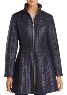 kate spade new york A-Line Bow-Quilted Coat