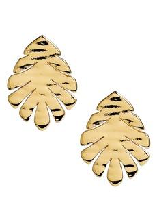 kate spade new york a new leaf stud earrings